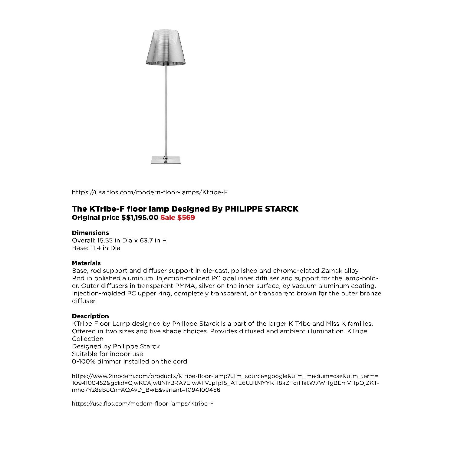 Flos The KTribe-F Floor Lamp - image-5