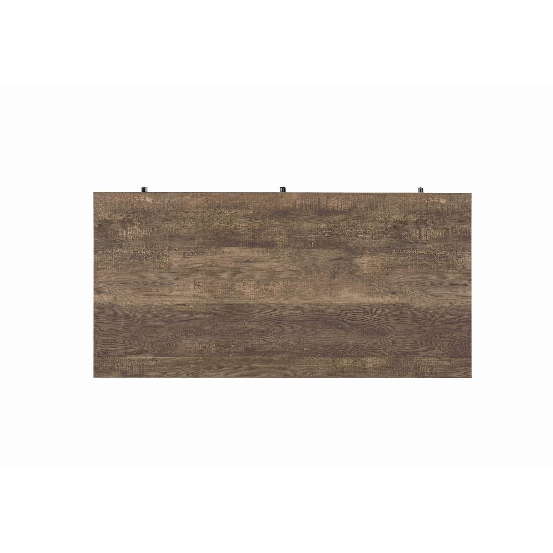 Natural Rustic Oak Desk w/ Black Steel Frame Legs - image-4