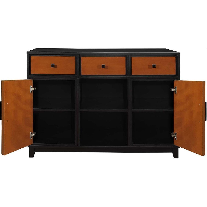 Modern Sideboard in 2-Tone Amber/Black Finish - image-2