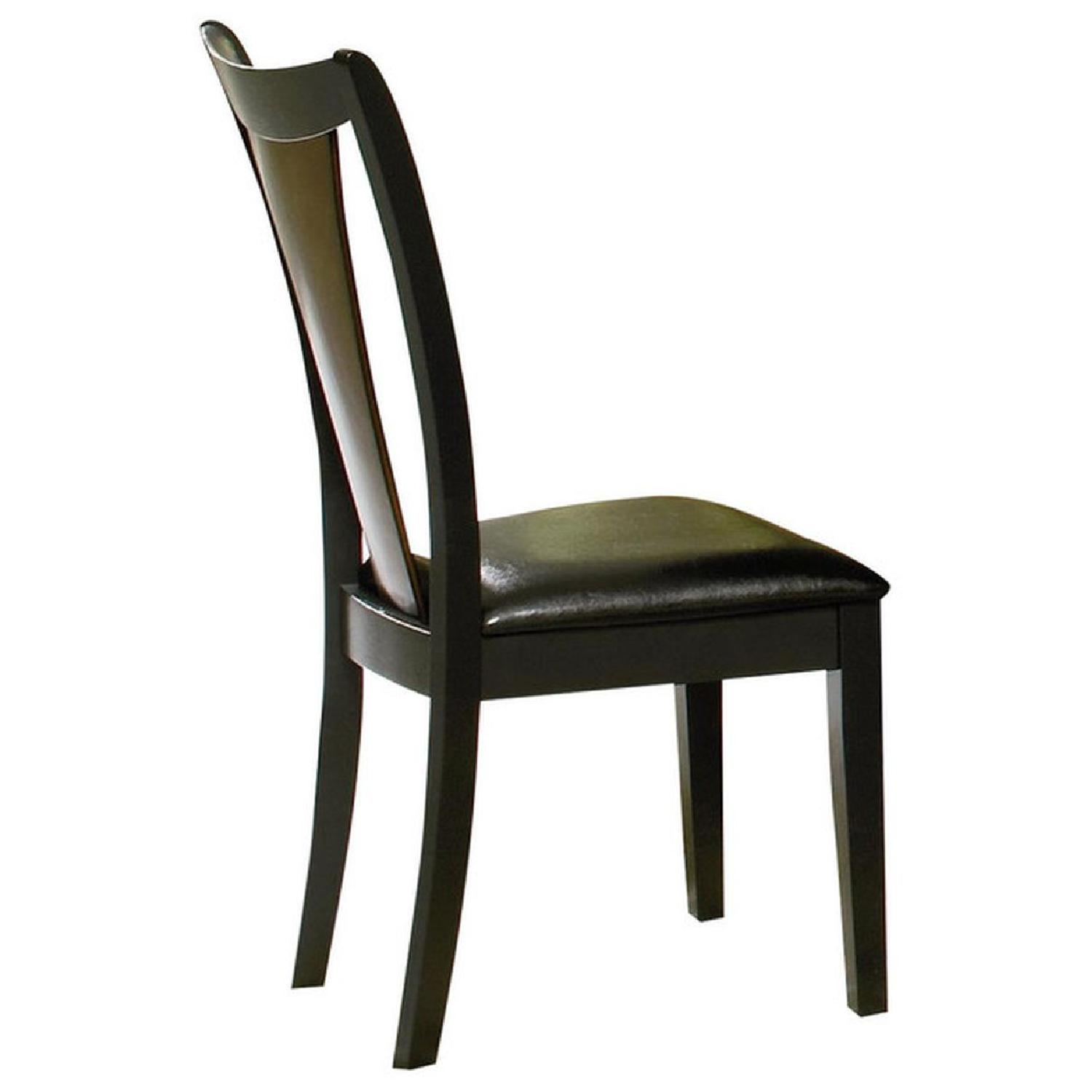 Dining Chair in 2-Tone Amber/Black Finish - image-1