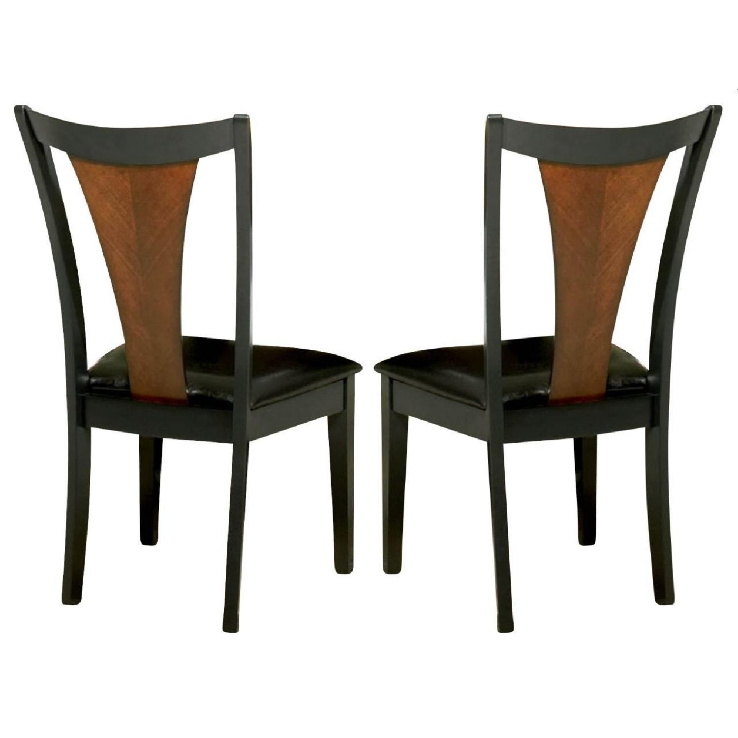 Dining Chair in 2-Tone Amber/Black Finish - image-0