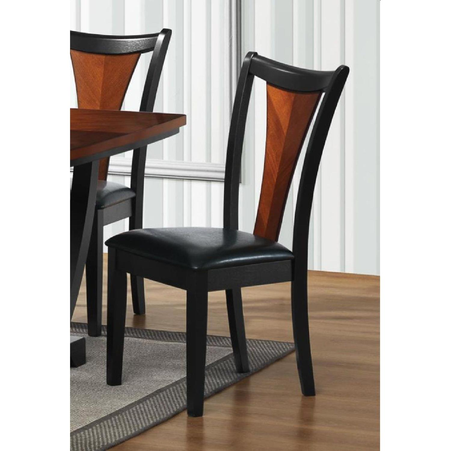 Dining Chair in 2-Tone Amber/Black Finish - image-3