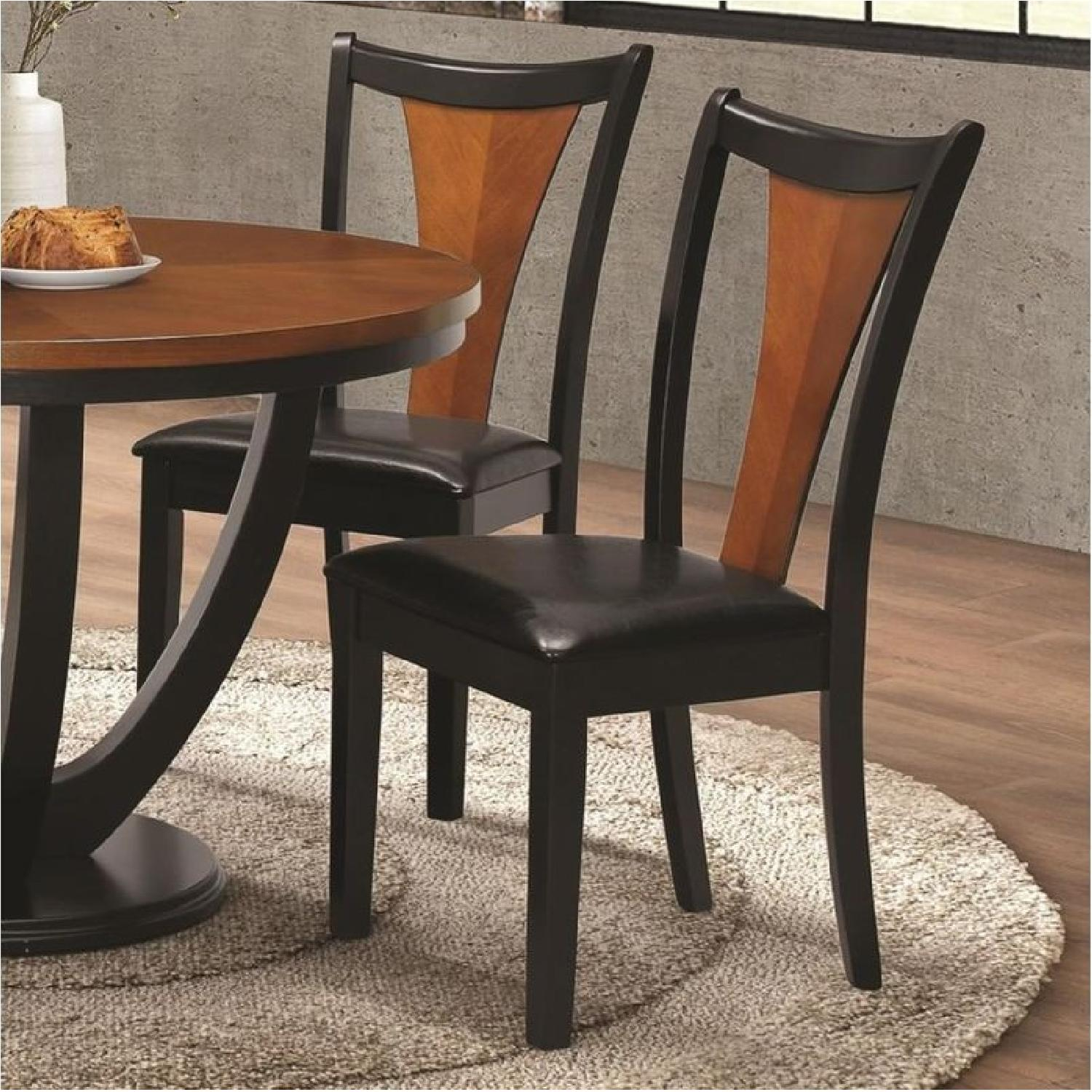 Dining Chair in 2-Tone Amber/Black Finish - image-2