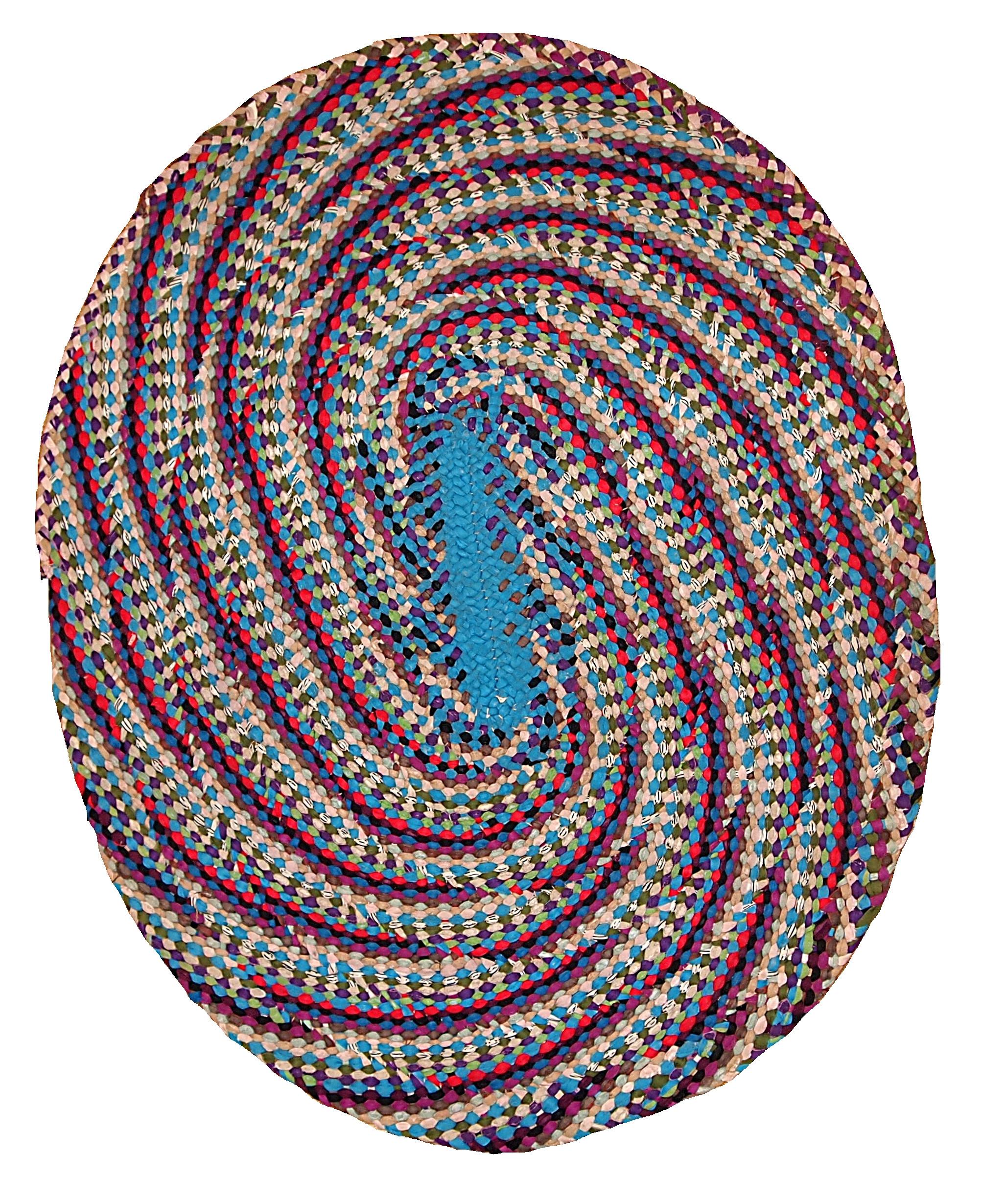 Handmade Vintage American Braided Rug