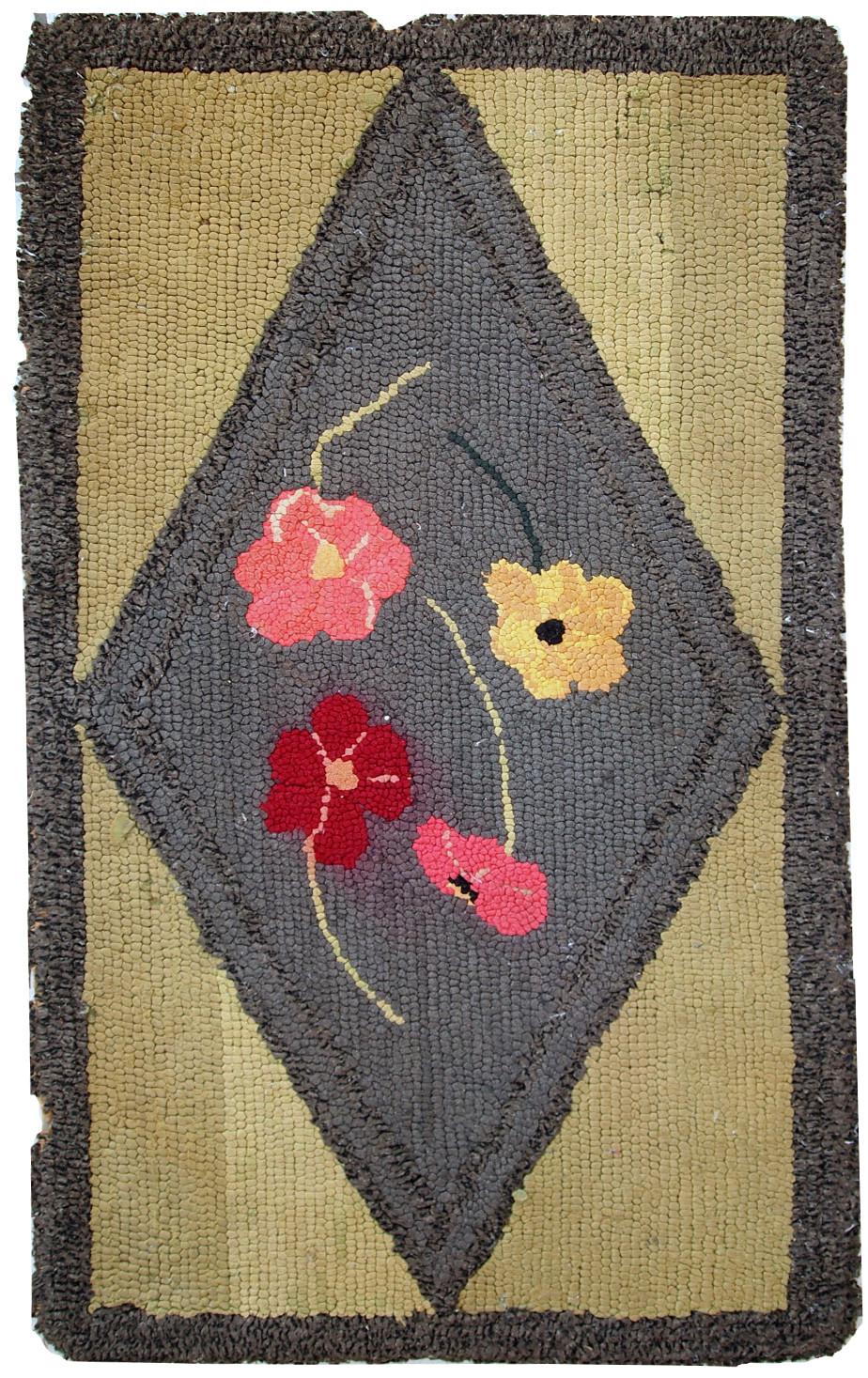 Handmade Antique American Hooked Rug