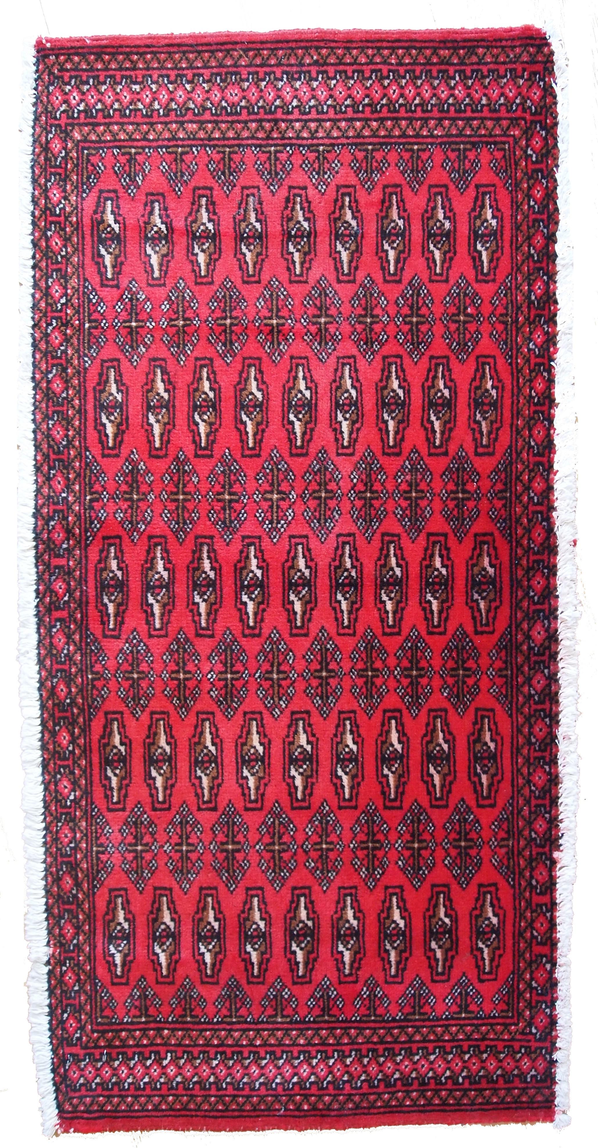 Handmade Vintage Turkoman Tekke Rug