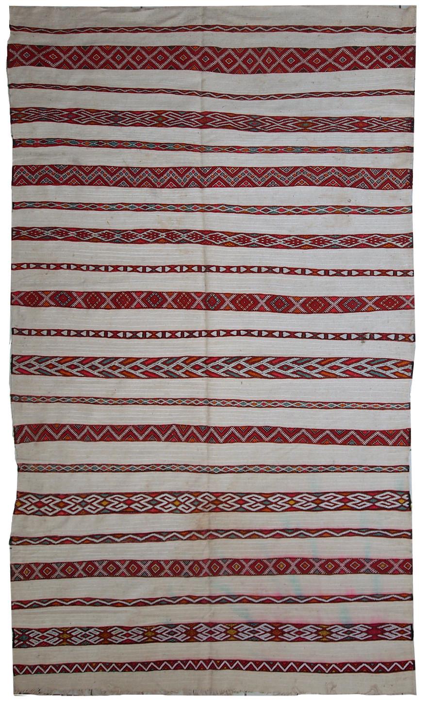 Handmade Vintage Moroccan Kilim Rug