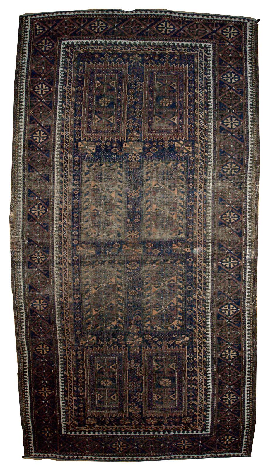 Handmade Antique Afghan Baluch Rug