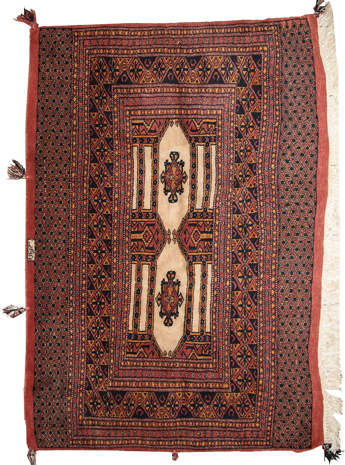 Handmade Vintage Turkmen Rug