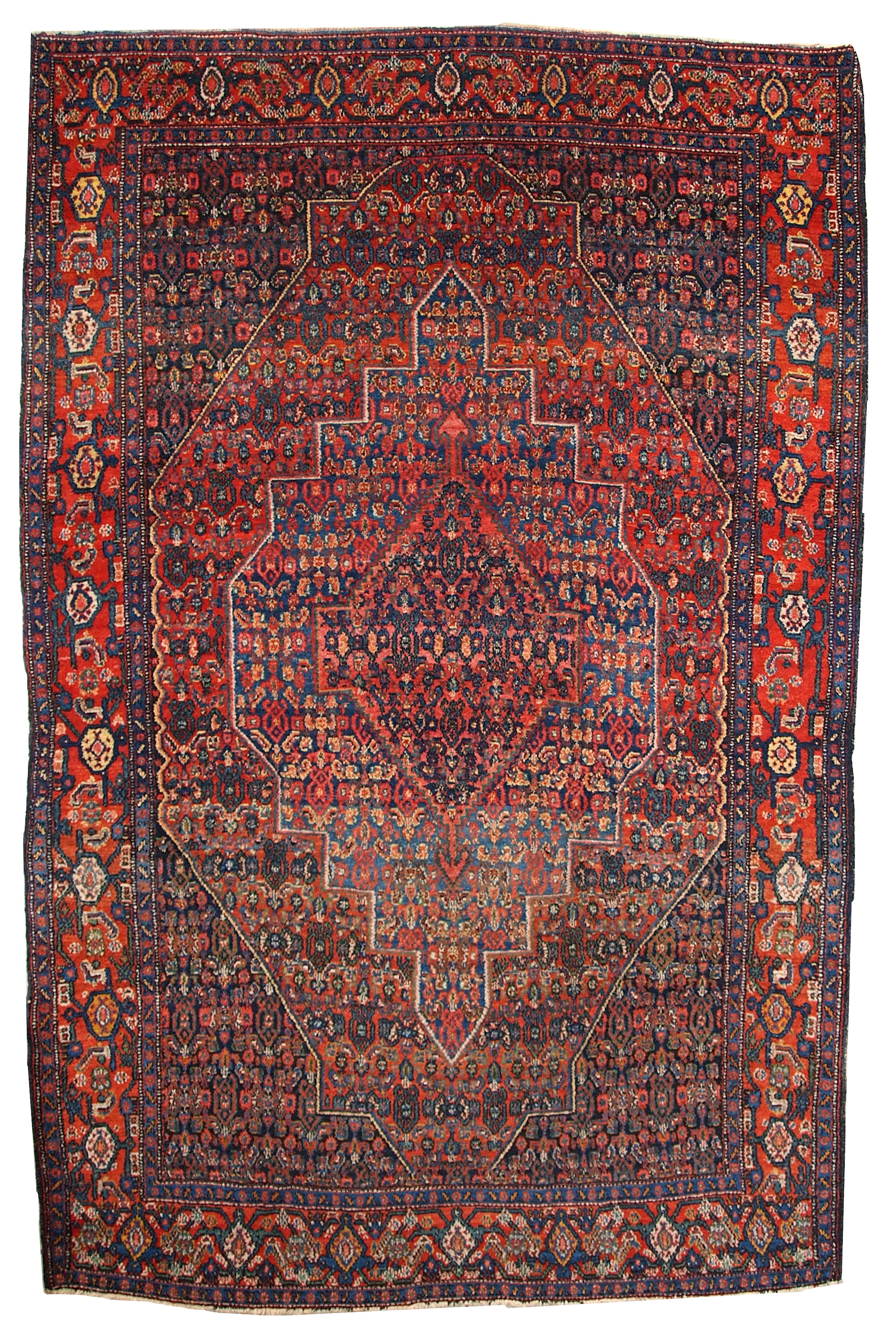 Handmade Antique Persian Senneh Rug