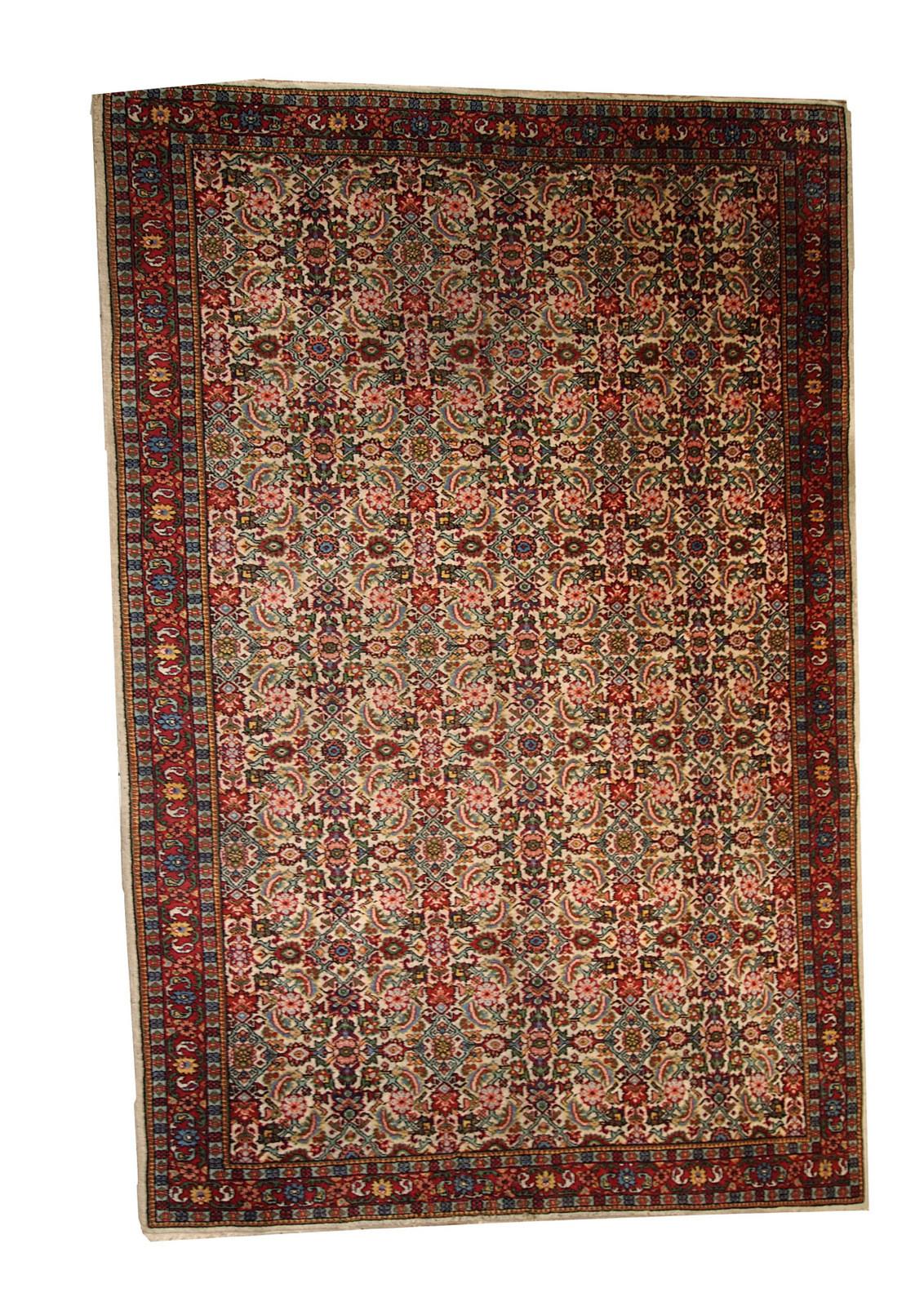 Handmade Antique Indian Indo-Mahal Rug
