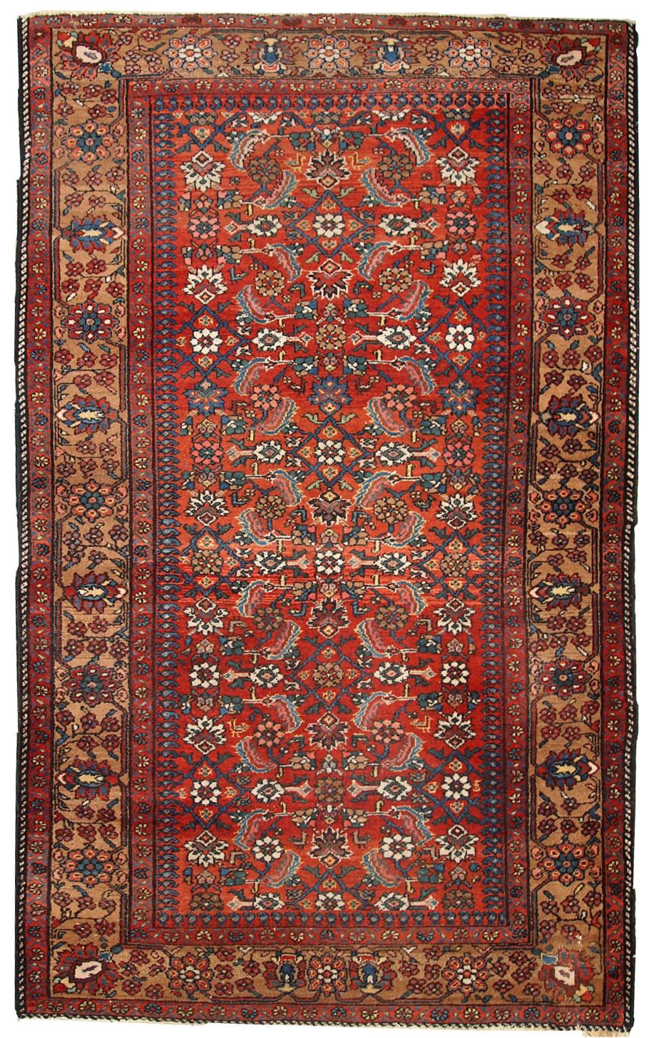 Handmade Antique Persian Hamadan Rug