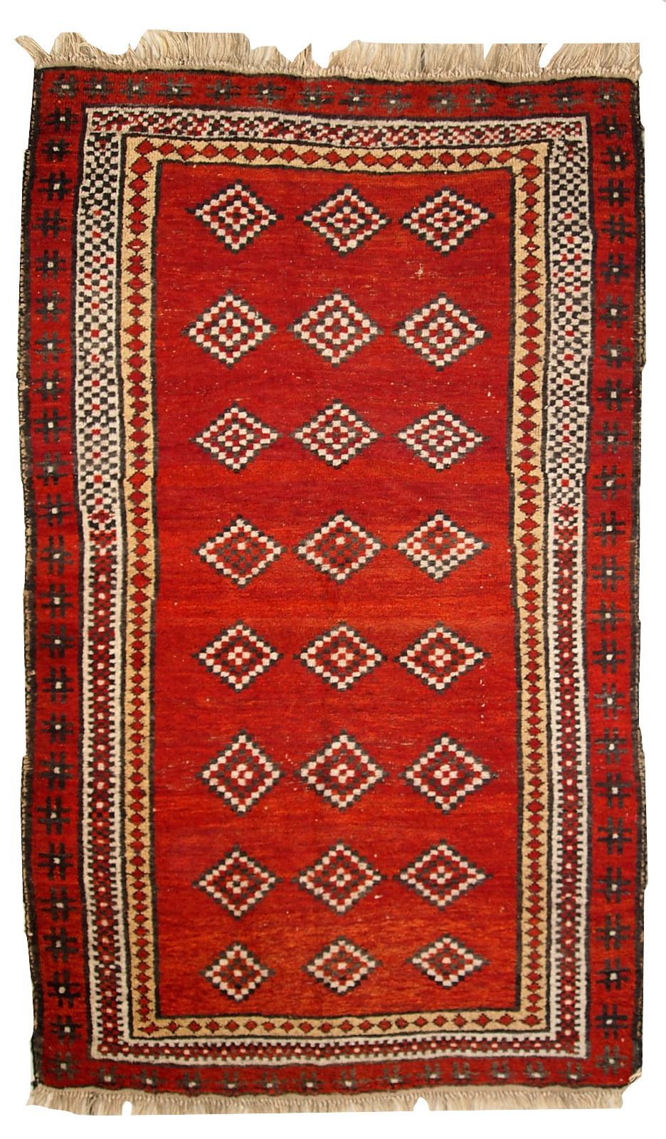 Handmade Antique Uzbek Gulyam Rug