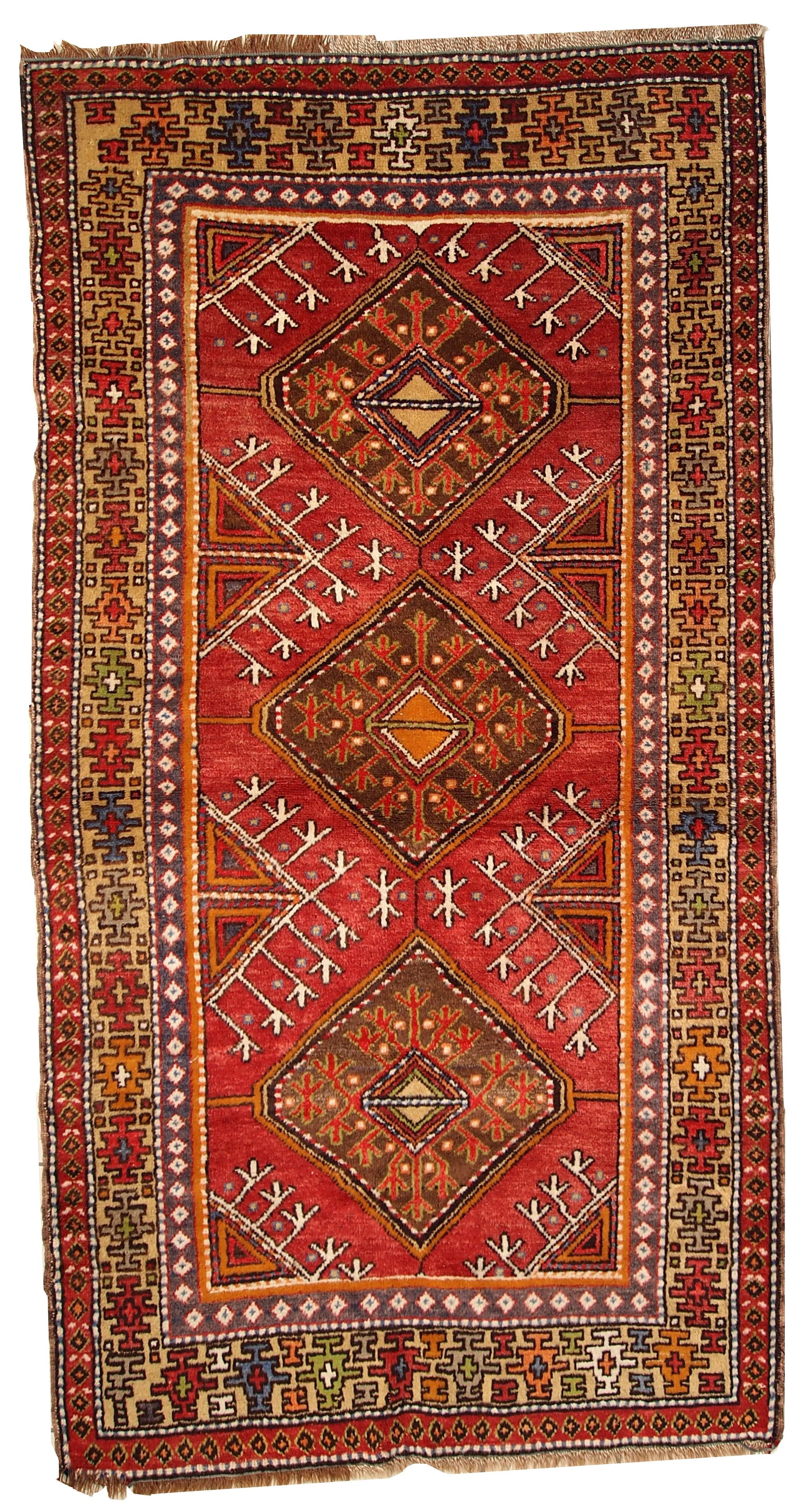 Handmade Antique Turkish Anatolian Rug
