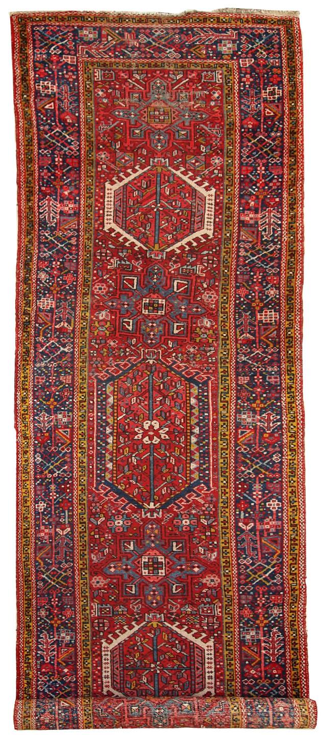 Handmade Antique Persian Karajeh Runner Rug
