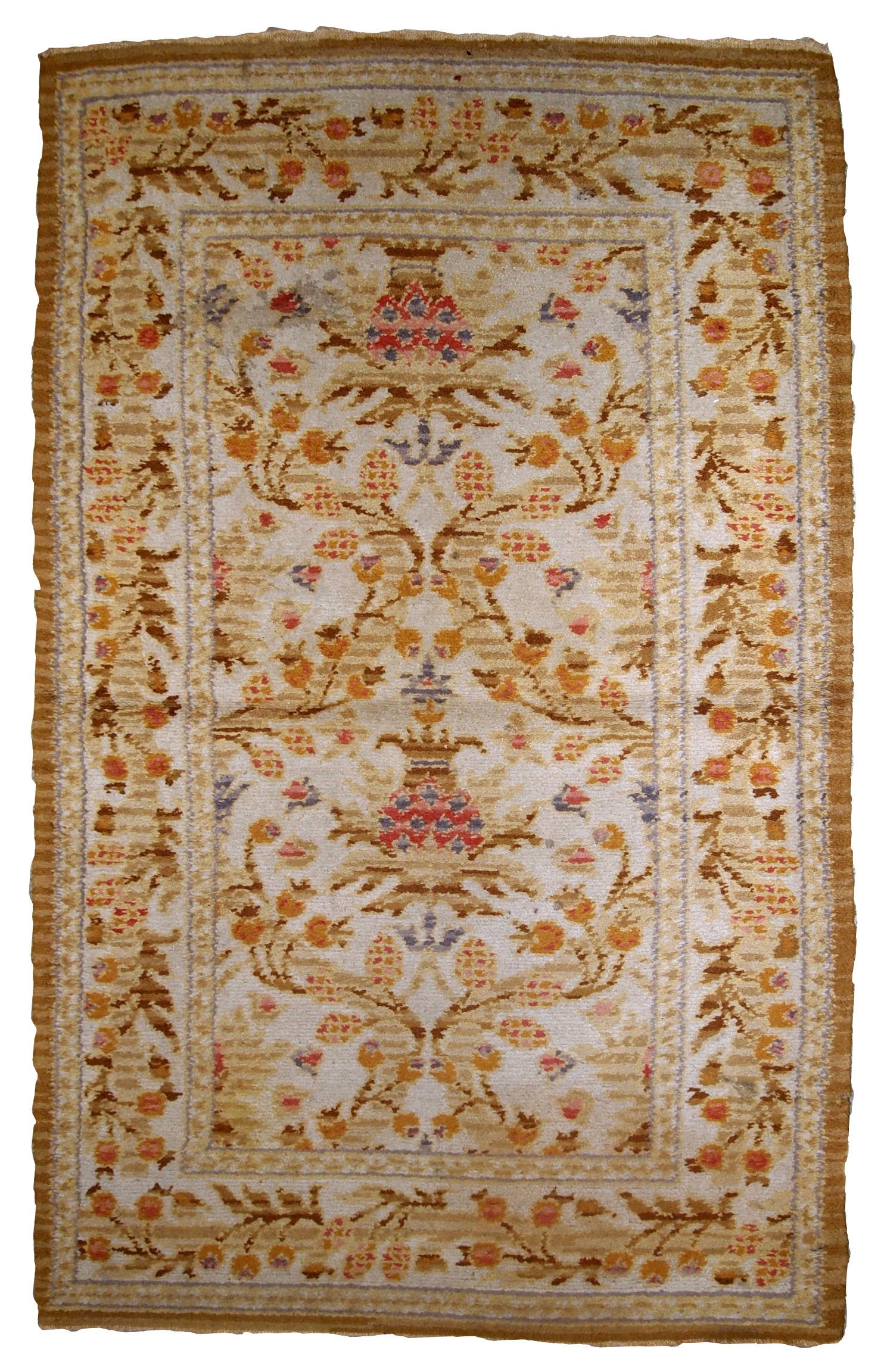Handmade Antique Spanish Savonnerie Rug
