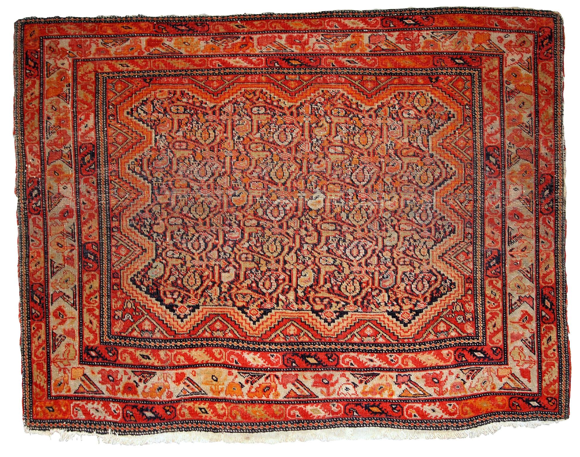 Handmade Collectible Persian Mishan Malayer Rug
