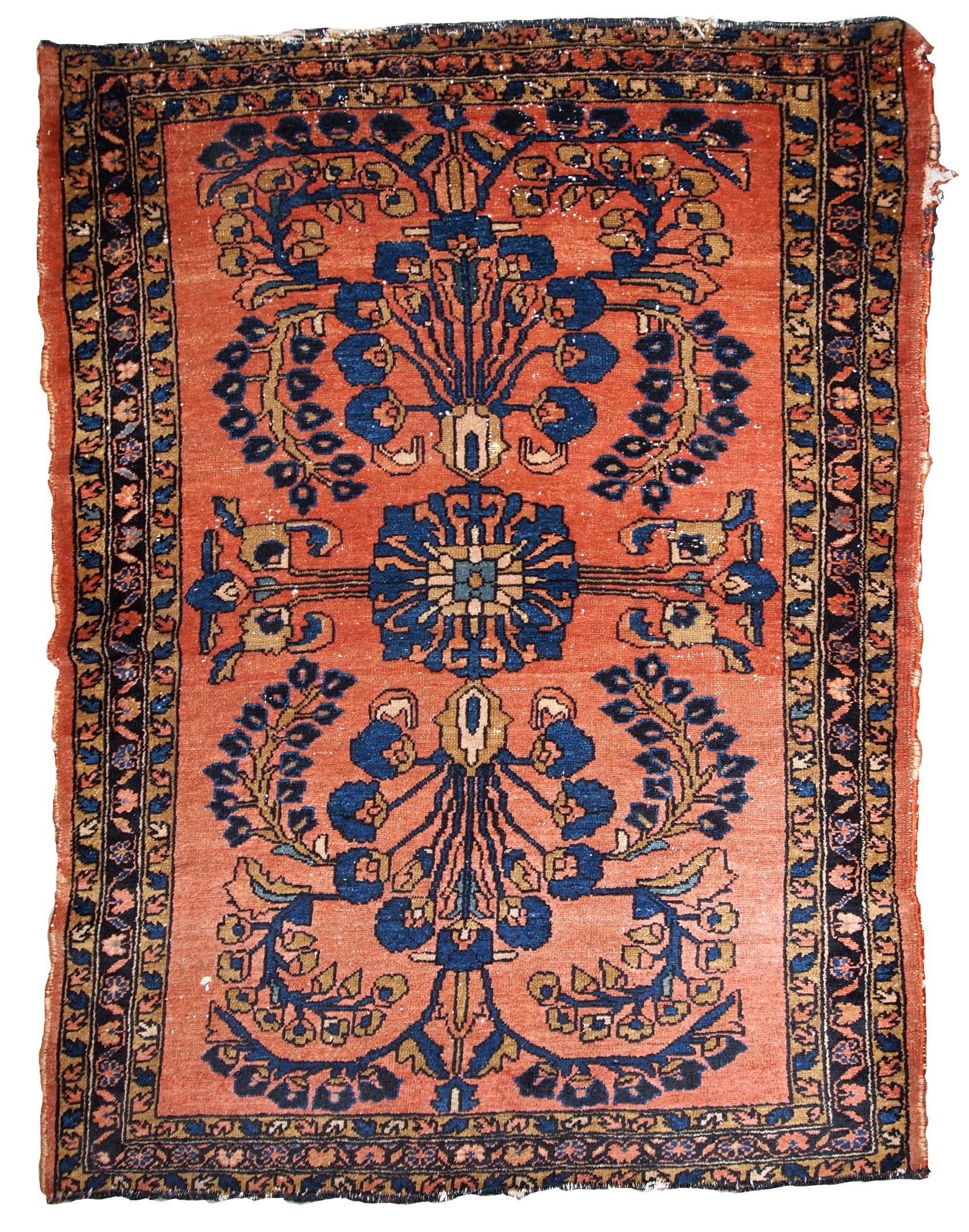 Handmade Antique Persian Lilihan Rug