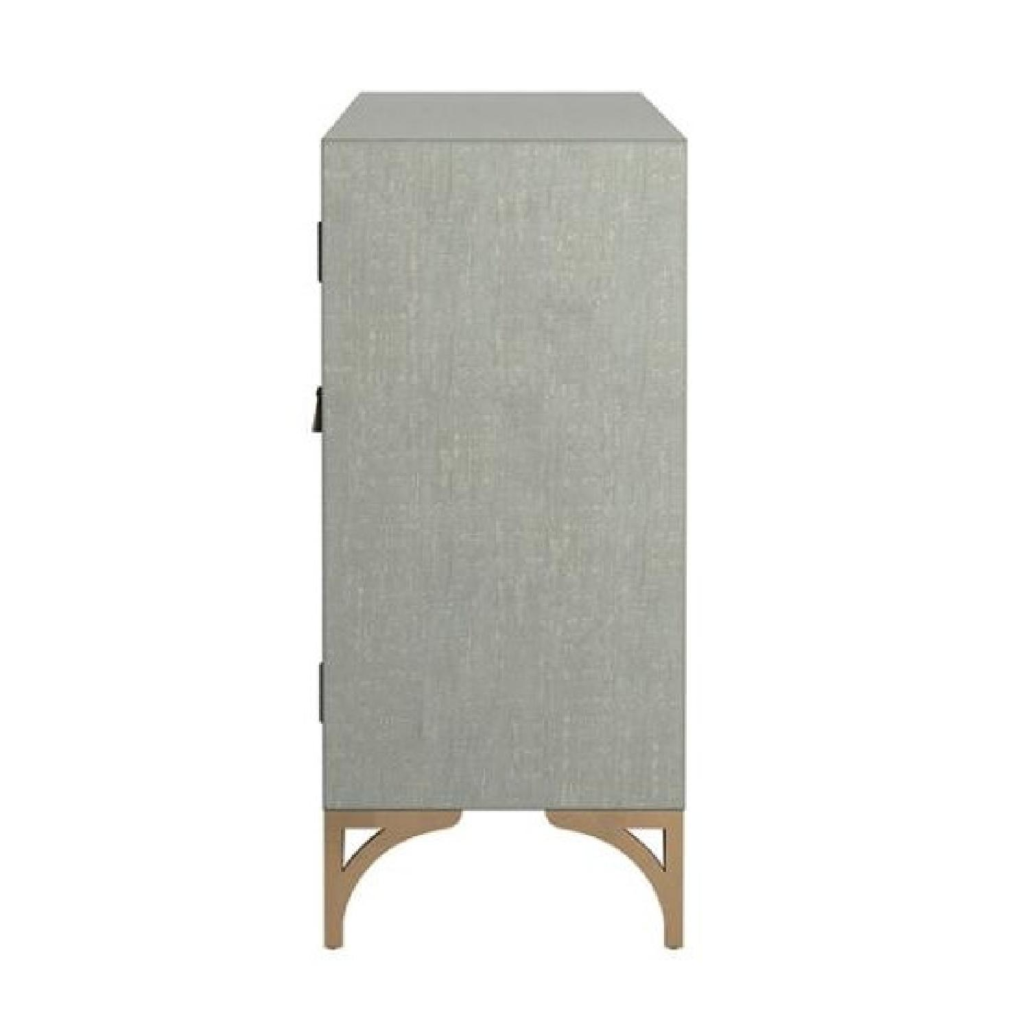 Contemporary Accent Cabinet In Grey Green w/ Bronze Hardware - image-1