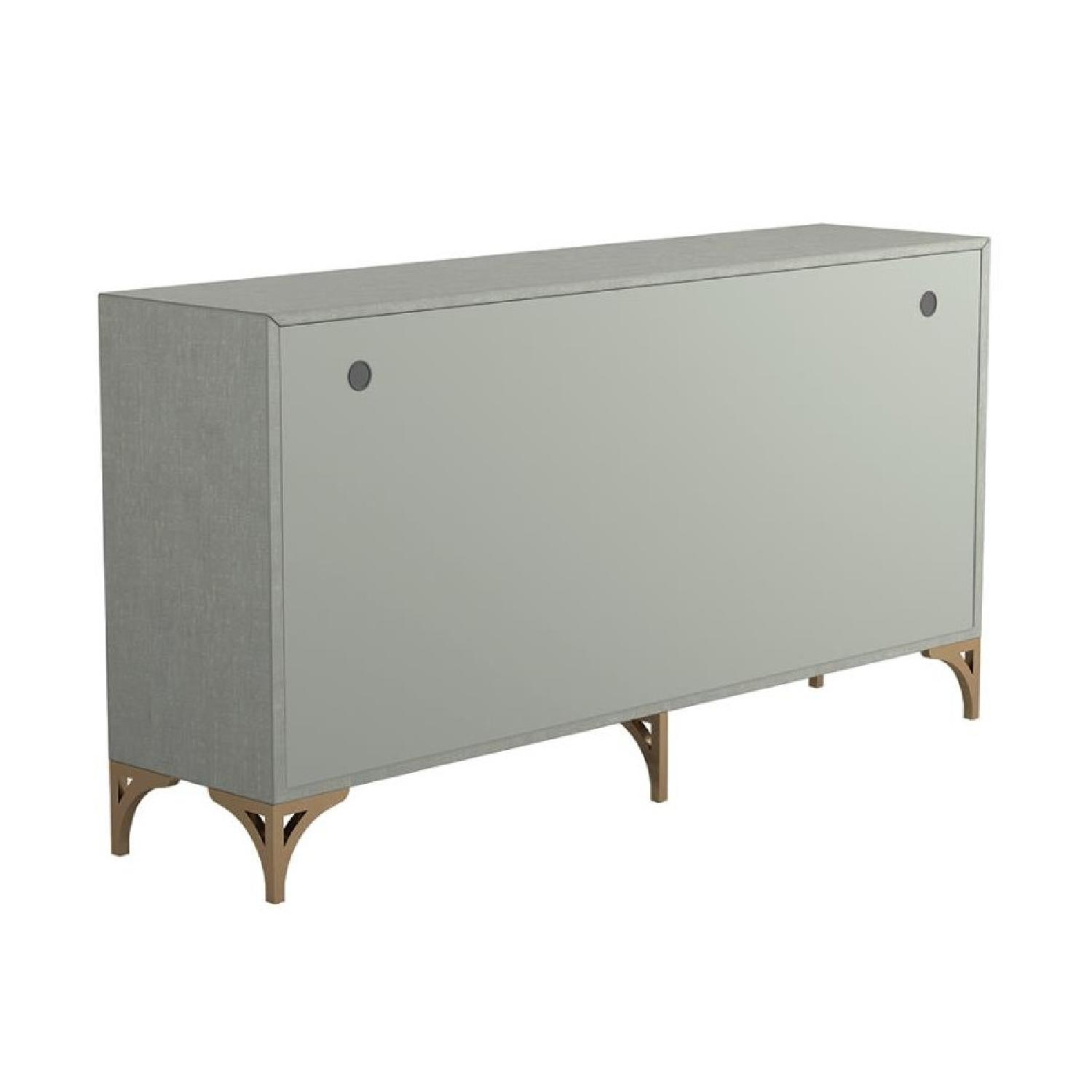 Contemporary Accent Cabinet In Grey Green w/ Bronze Hardware - image-4