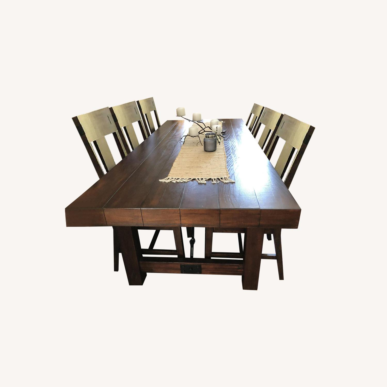 Pier 1 Dining Table w/ 6 Chairs - image-0