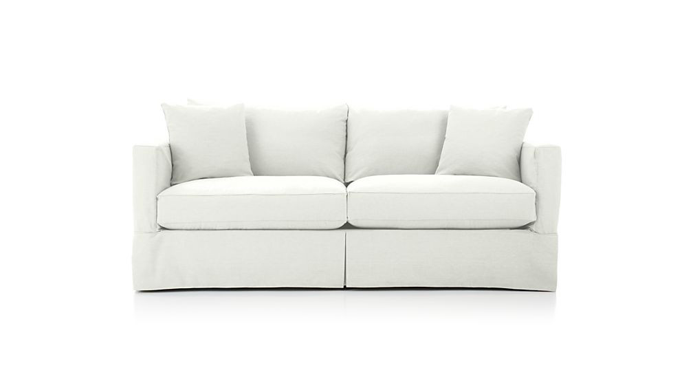 Crate & Barrell Willow Slipcovered Sofa