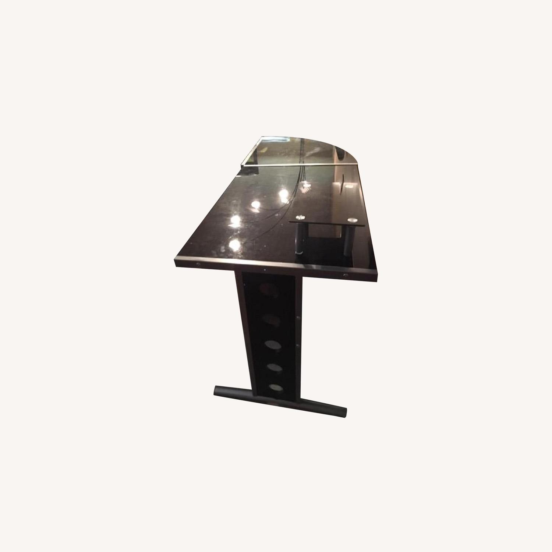 Glass L Shape Desk