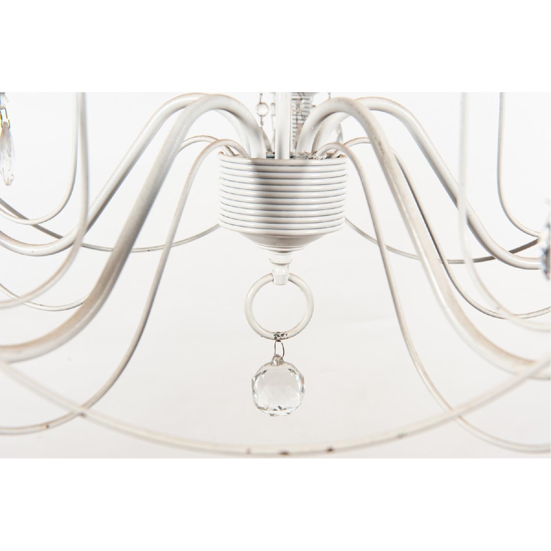 Vintage 5-Light Metal Candelabra Chandelier - image-4