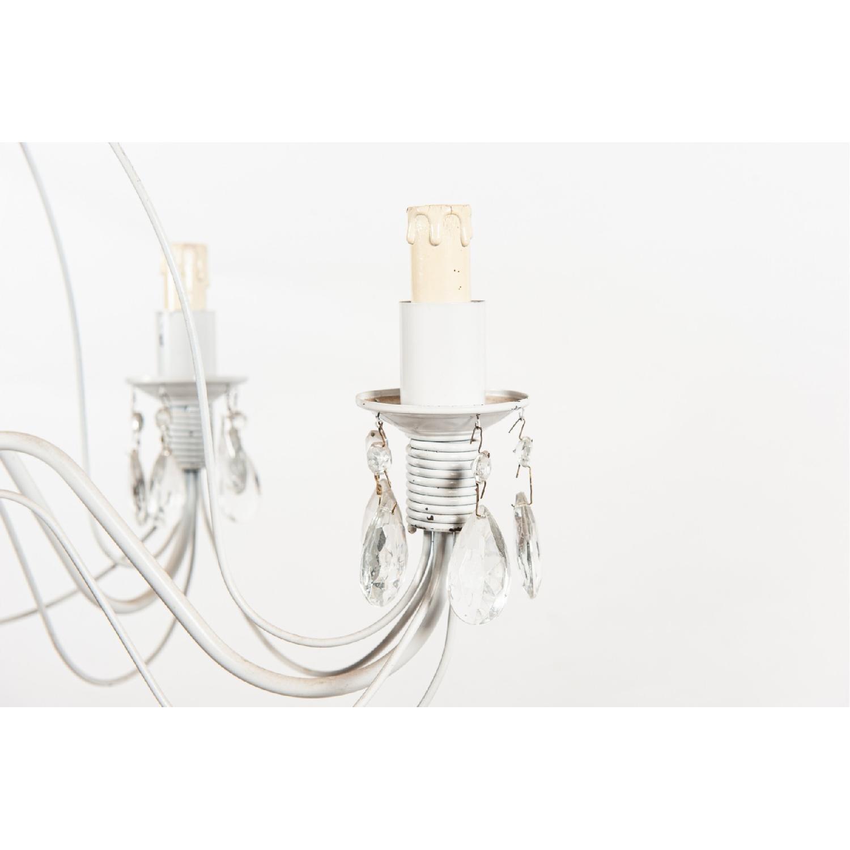 Vintage 5-Light Metal Candelabra Chandelier - image-3