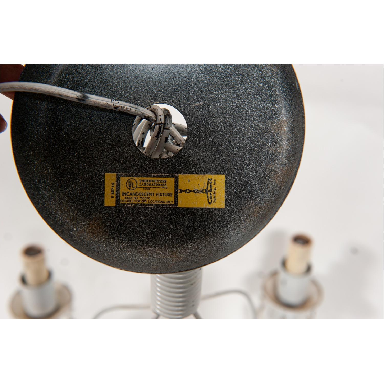 Vintage 5-Light Metal Candelabra Chandelier - image-6