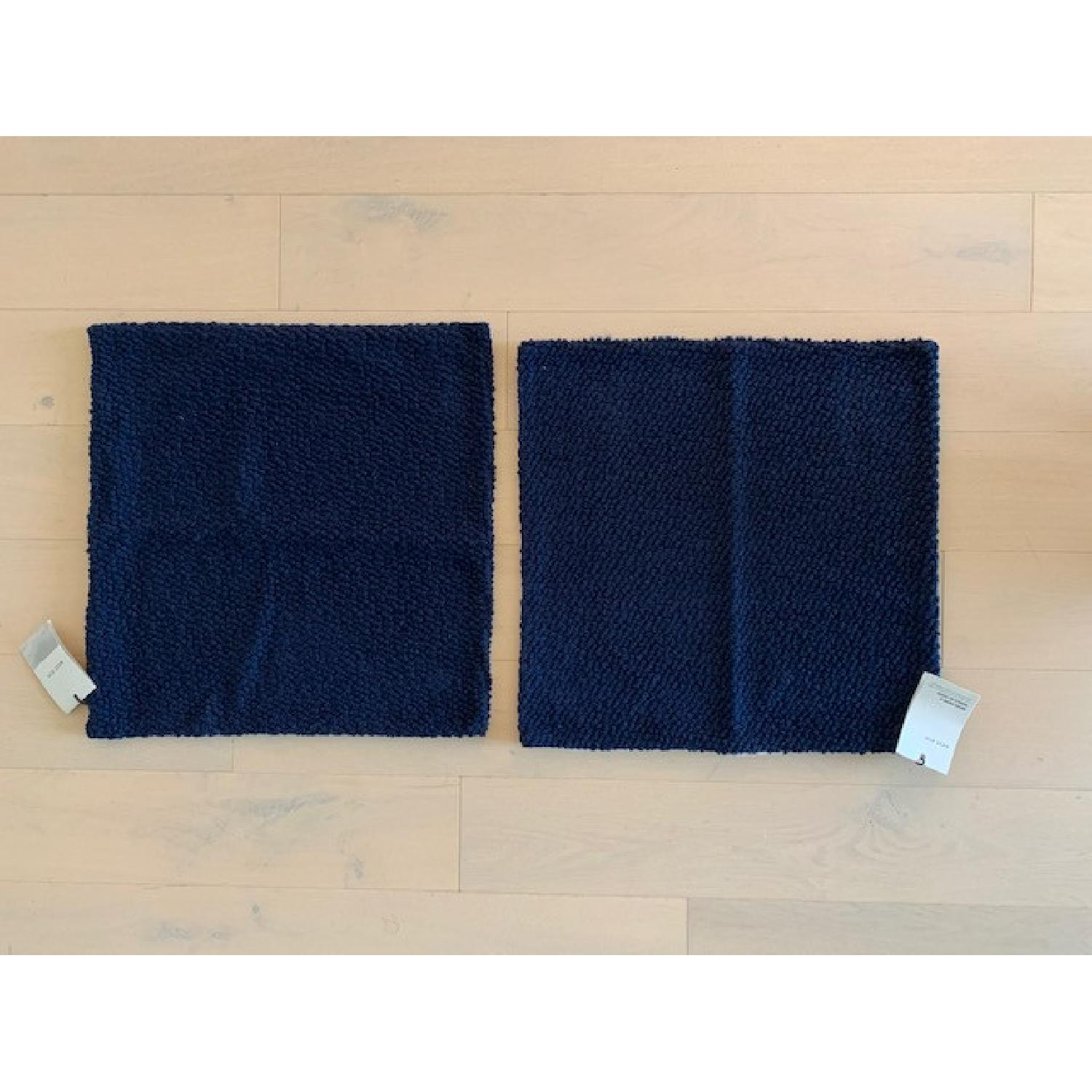 West Elm Boucle Navy Pillow Covers - image-1