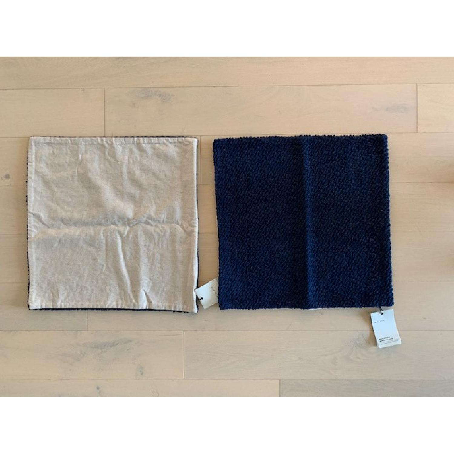West Elm Boucle Navy Pillow Covers - image-3