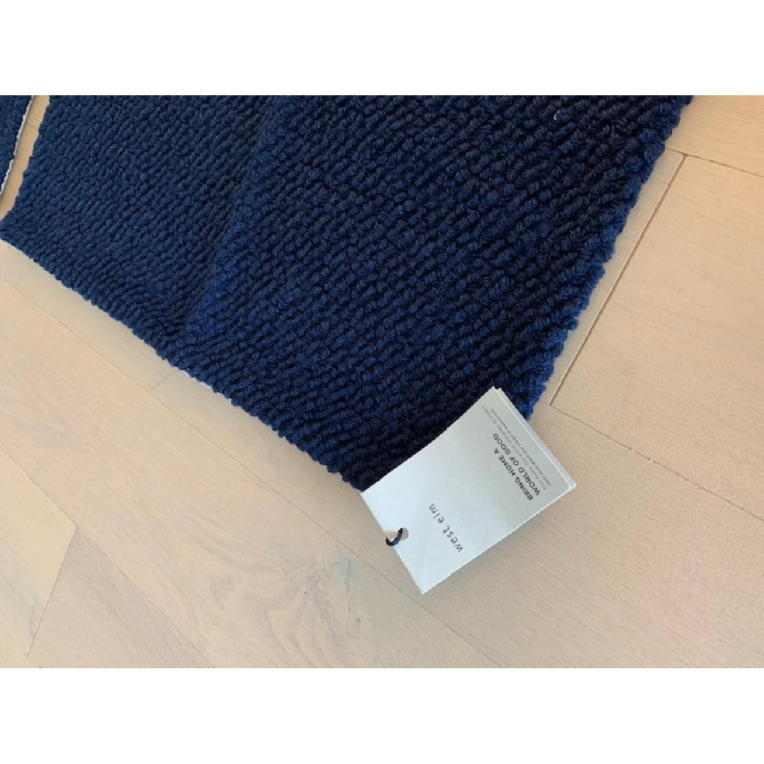West Elm Boucle Navy Pillow Covers - image-4