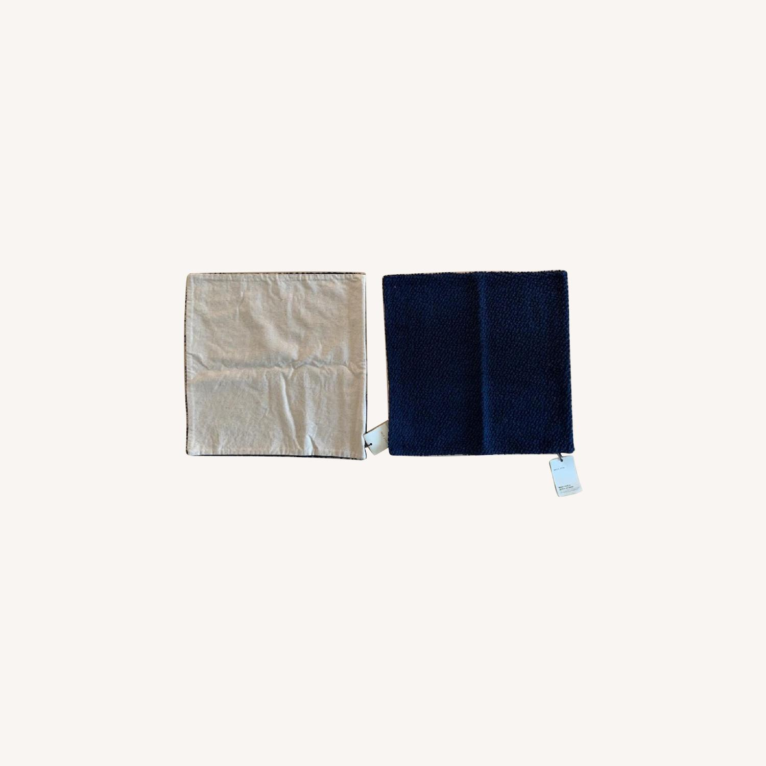 West Elm Boucle Navy Pillow Covers - image-0