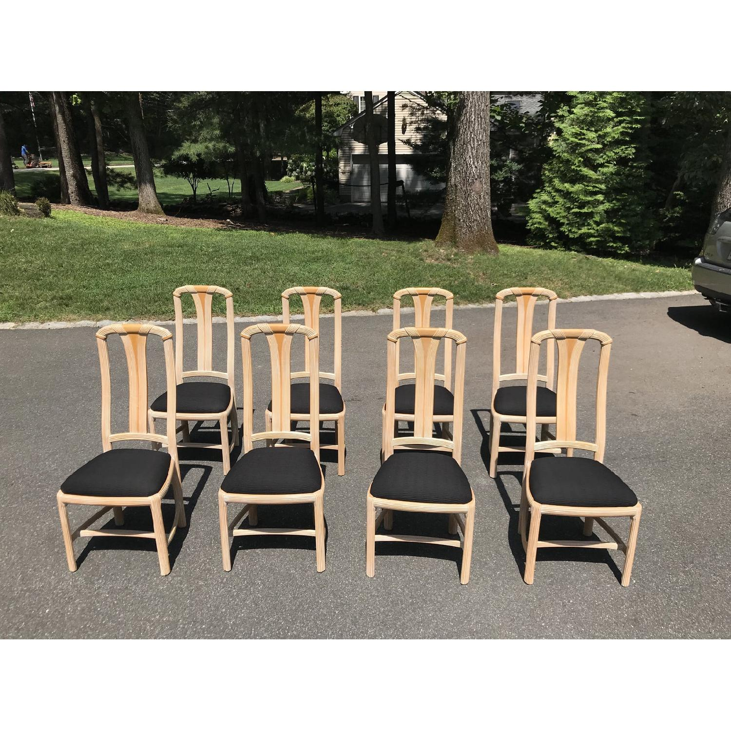 1970s Chic Cerused Oak Dining Chairs - image-3