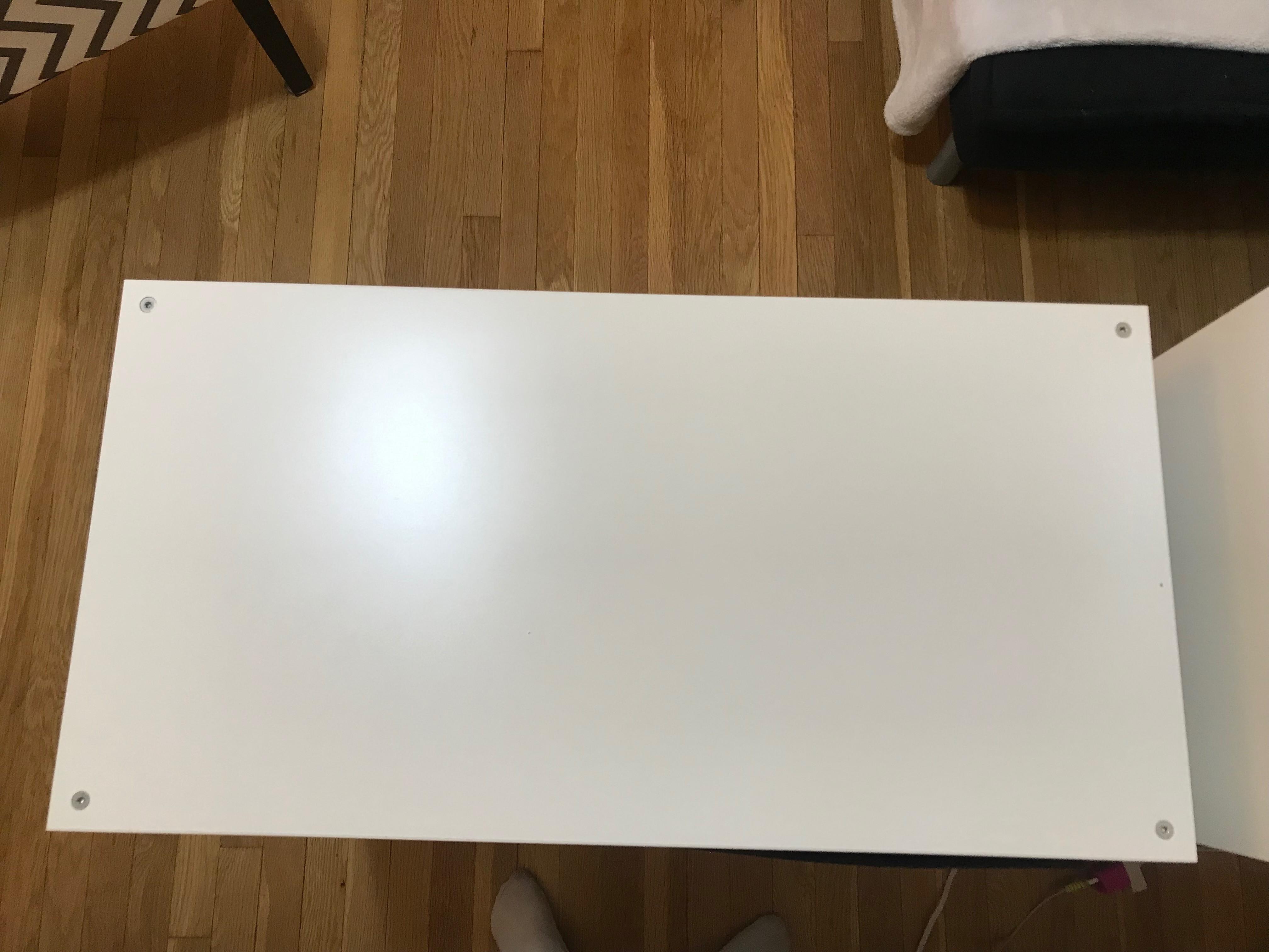 Ikea Kallax White Shelf Unit w/ Inserts