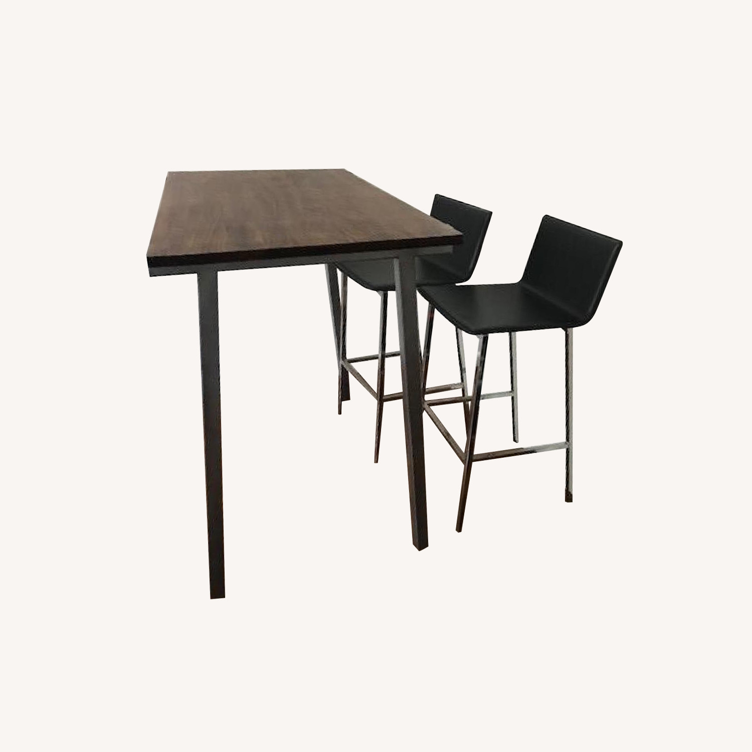 CB2 High Dining Table w/ 4 Barstools
