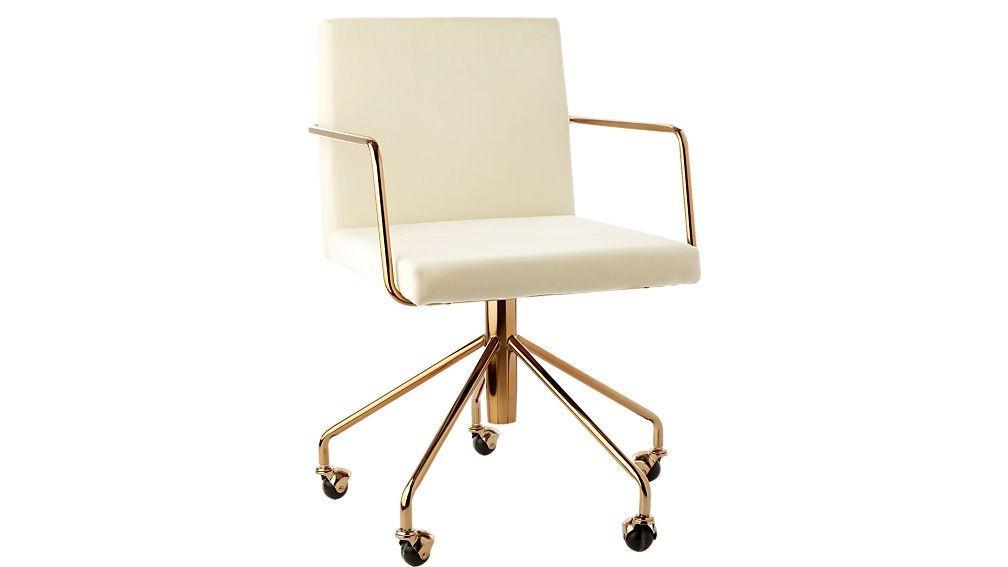 CB2 Rouka White Velvet Chair