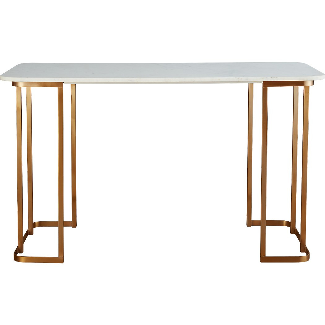 CB2 Dahlia Marble Desk