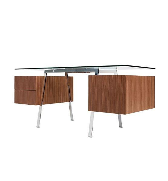 Design Within Reach Homework Glass Top Desk