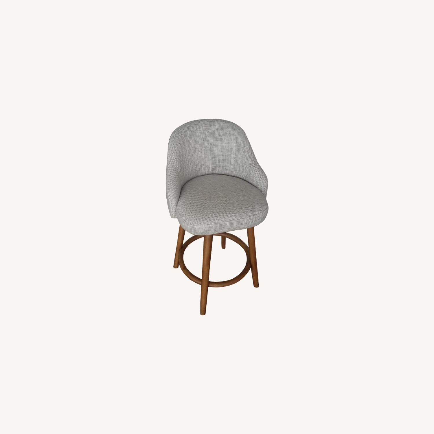 West Elm Mid-Century Upholstered Swivel Stools - image-0