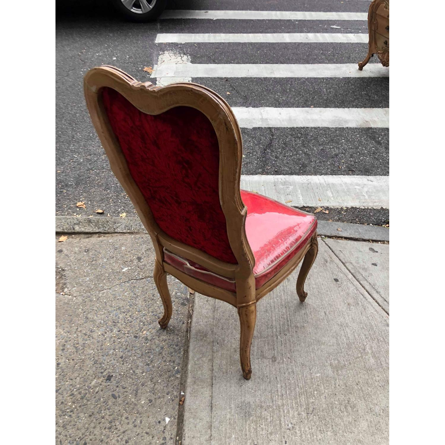 Vintage French Style Red Chair