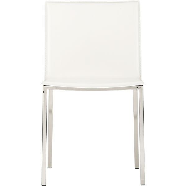 CB2 Phoenix Ivory Chairs