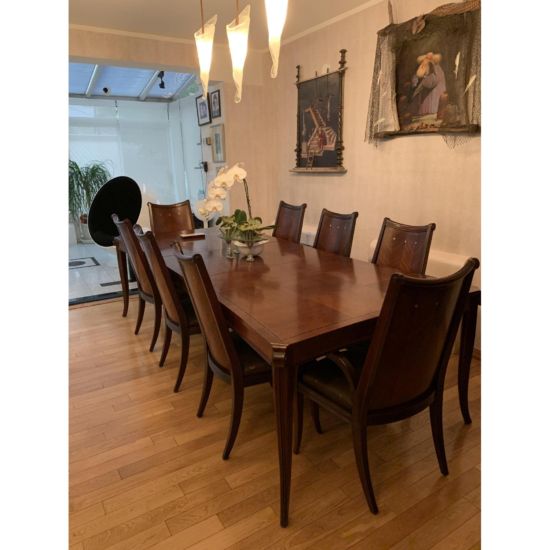 Solid Mahogany Wood 10-Piece Formal Dining Set - image-0