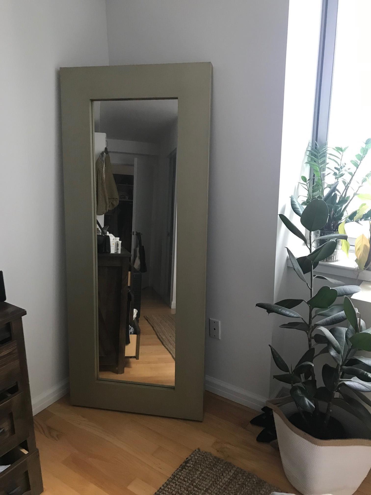 West Elm Full Length Leaning Mirror