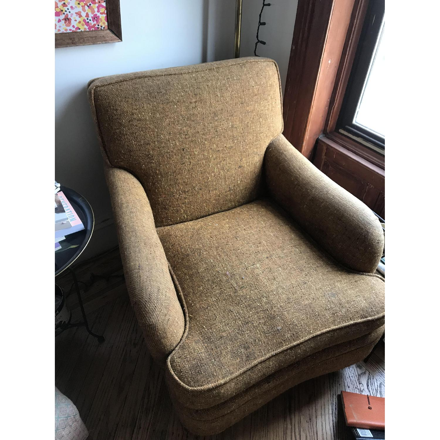 Vintage Rust/Brown/Gold Armchair - image-3