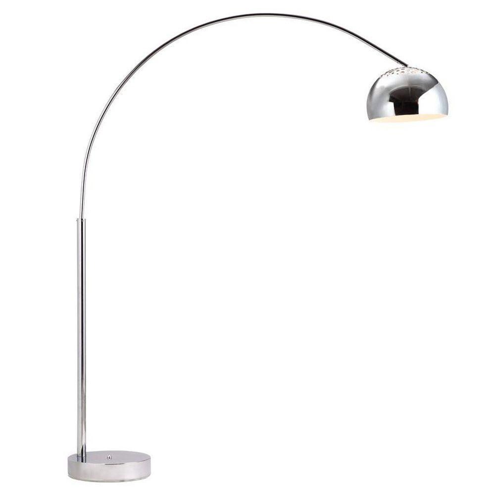 Galactic Chrome Arc Floor Lamp