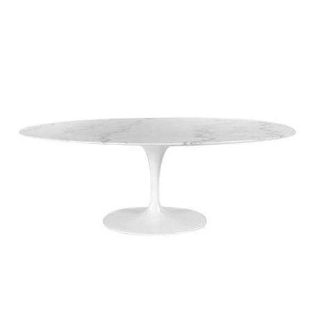 Organic Modernism Marble Oval Dining Table