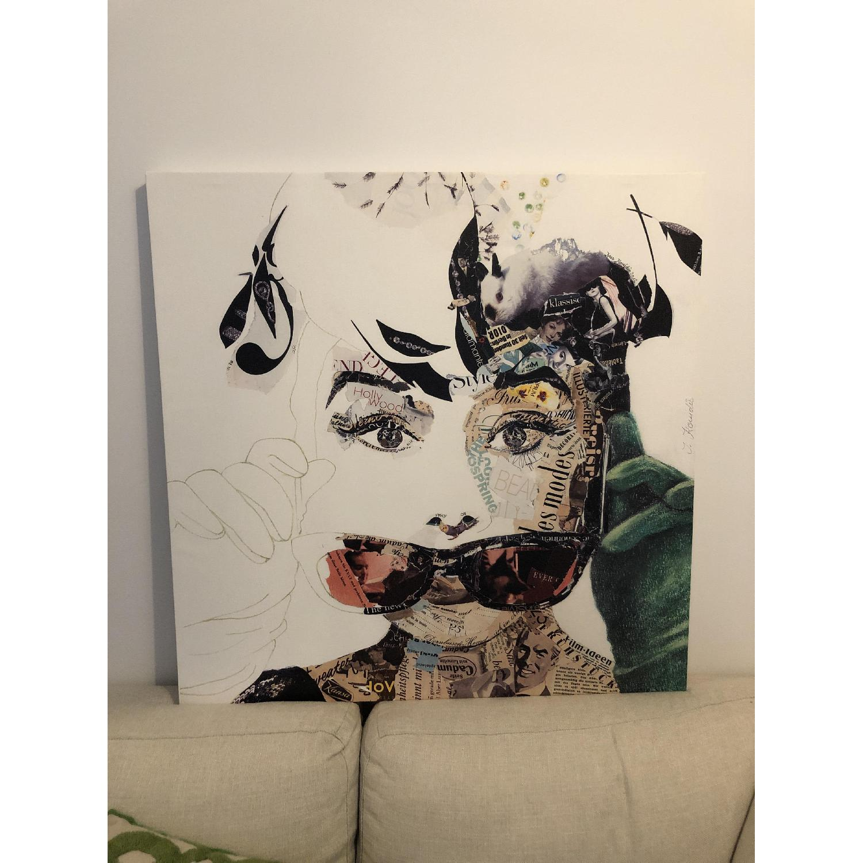 Audrey Hepburn Painting by Ines Kouidis - image-1