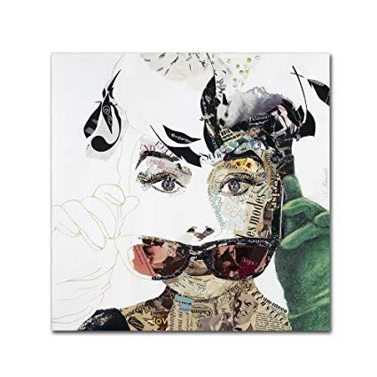 Audrey Hepburn Painting by Ines Kouidis
